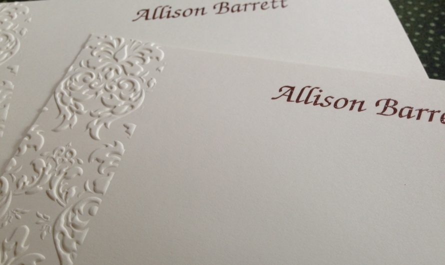 What is a Personalized Correspondence Card?