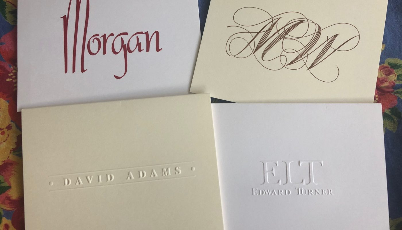Embossed and Raised-Ink Stationery from Embossed Graphics