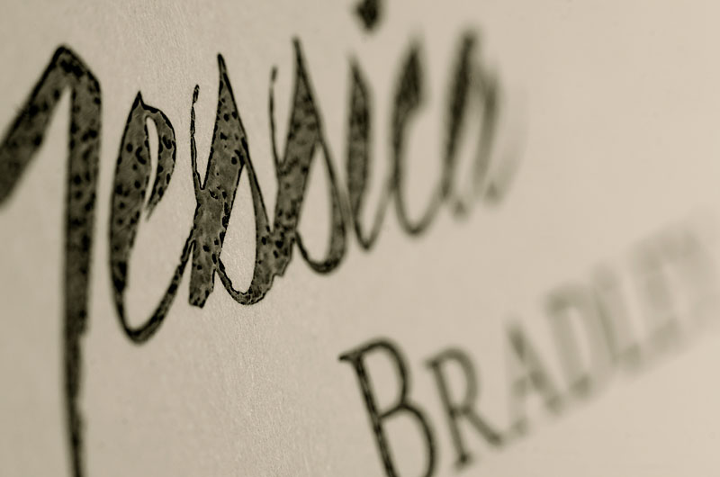 """The Ovation Note features exquisite thermography, also called """"raised ink"""" printing."""