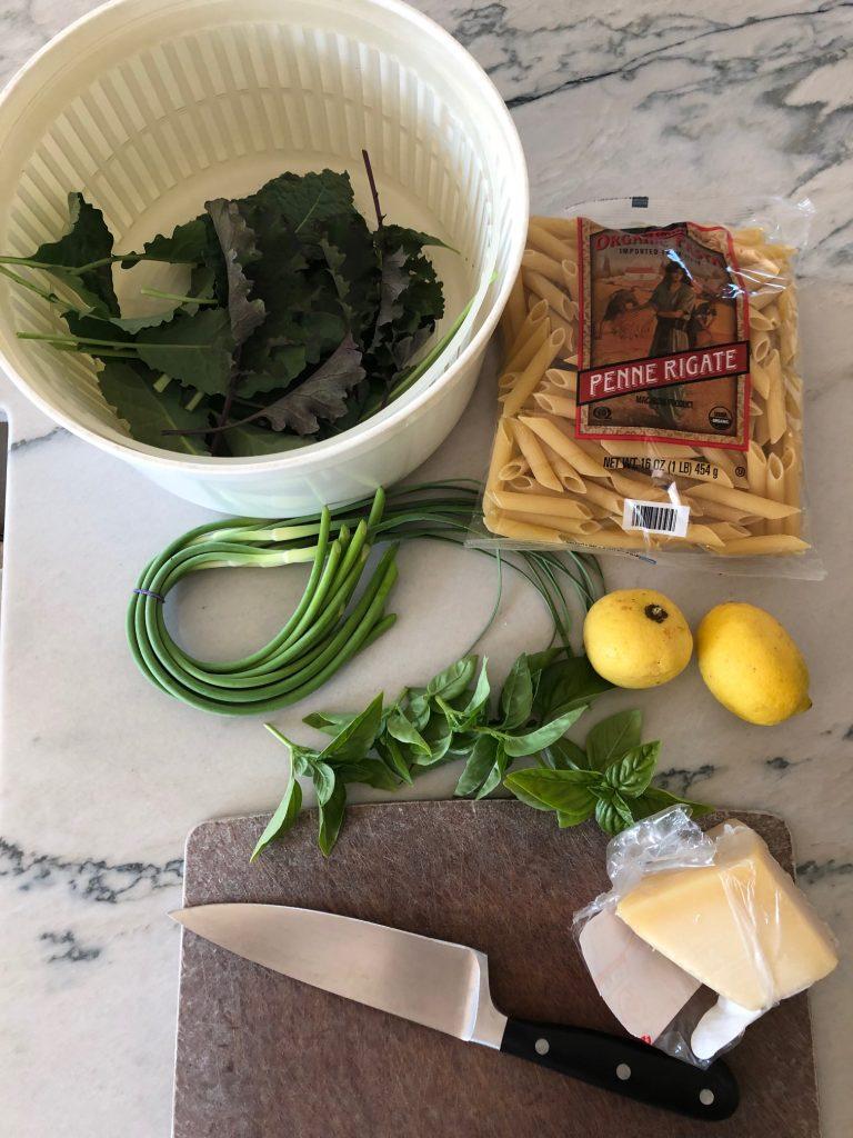 ingredients for ramp pesto