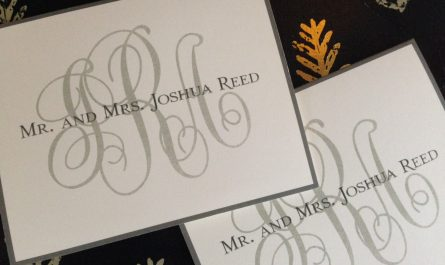 Rosedale Note from Embossed Graphics