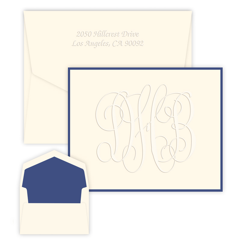 Henley Grand Monogram Note from Embossed Graphics