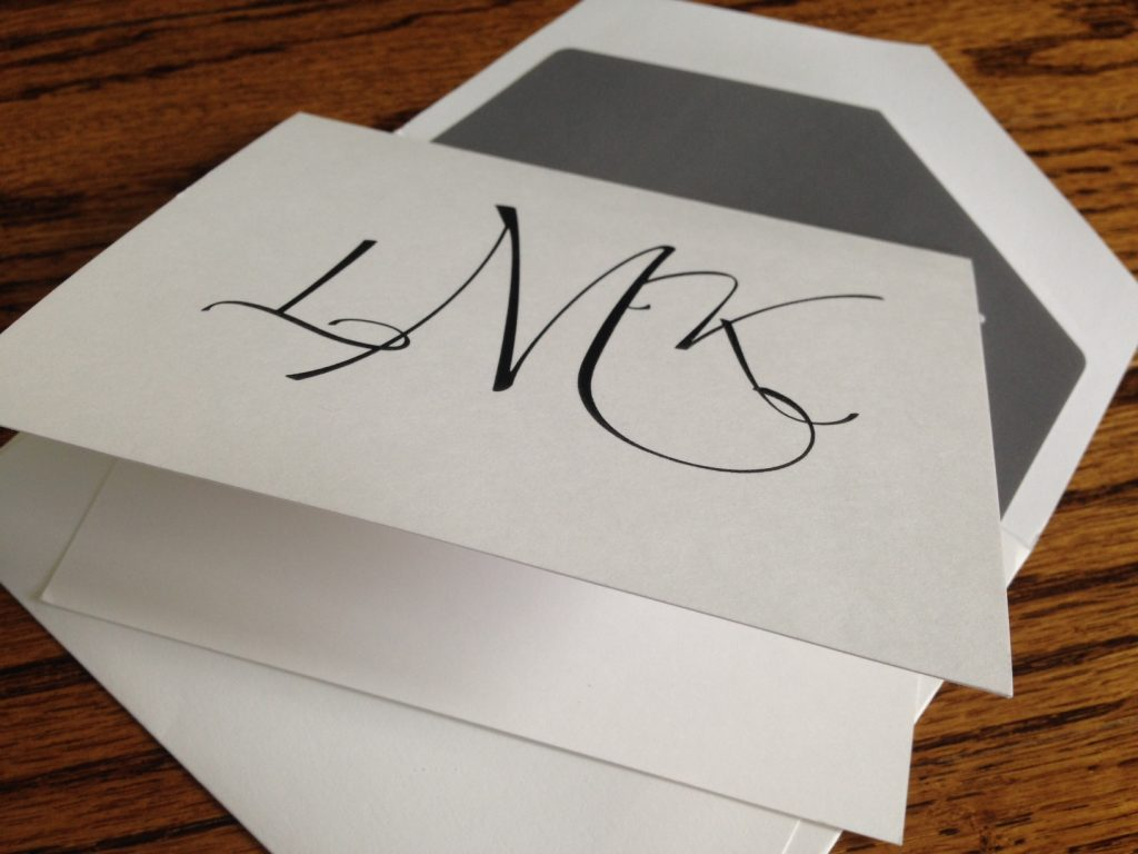 Folded Note and Envelope from Embossed Graphics