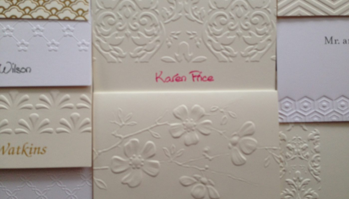 Folded Note Options from Embossed Graphics