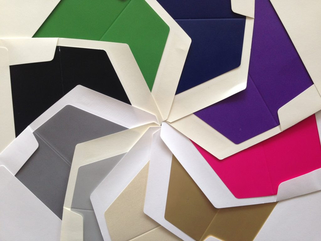 Embossed Graphics offers many luxury envelope lining choices