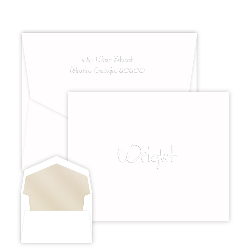 Anthony Embossed Note personalized stationery from Embossed Graphics