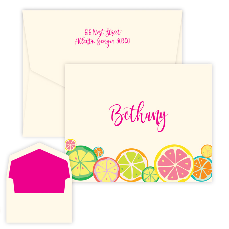 Botanical Fruit Note for kids from Embossed Graphics