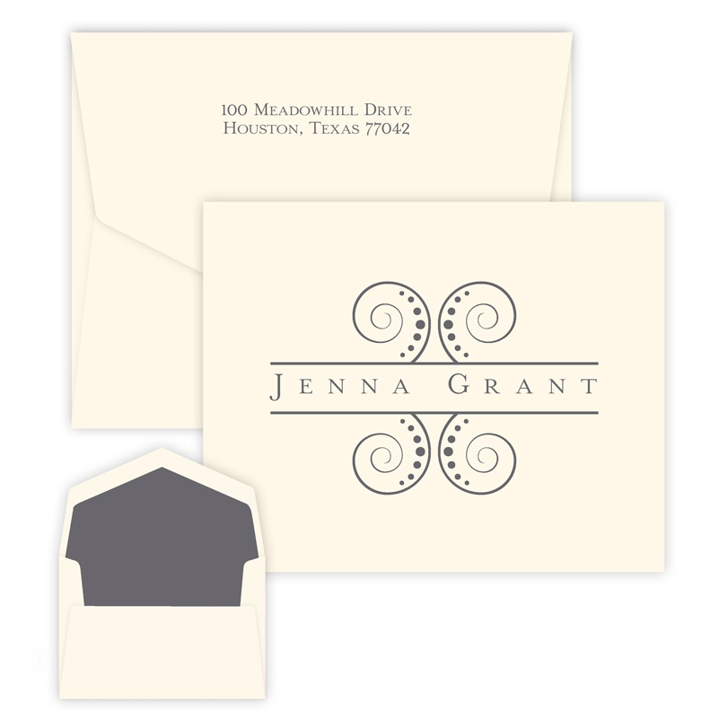 Cosmo Note personalized stationery for teens from Embossed Graphics