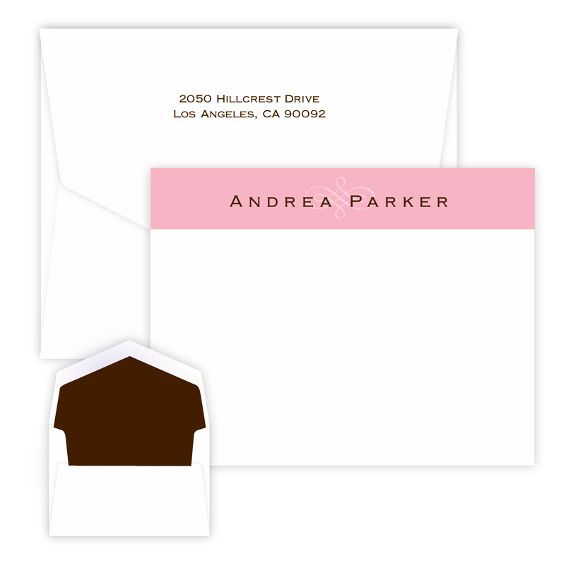 Pink Scroll Delicate Card for teens from Embossed Graphics