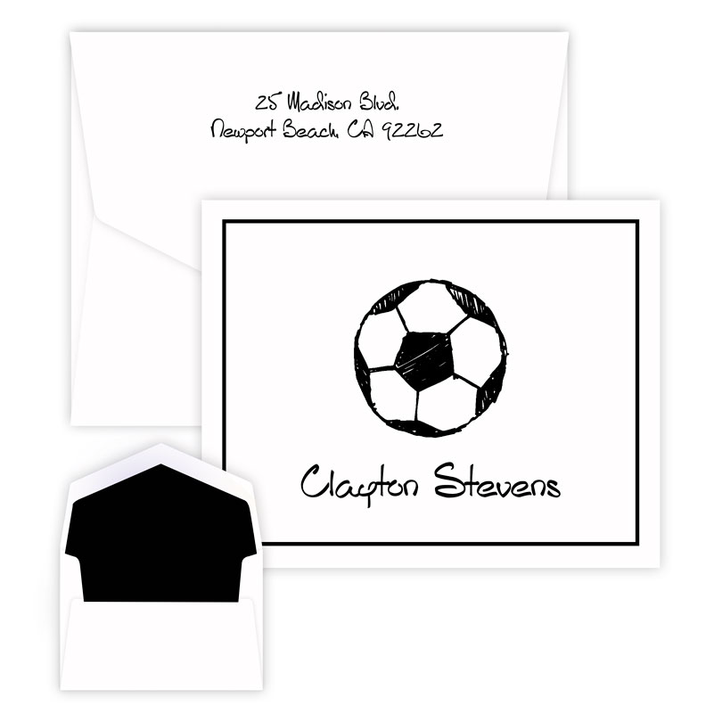 Sport Note personalized stationery from Embossed Graphics
