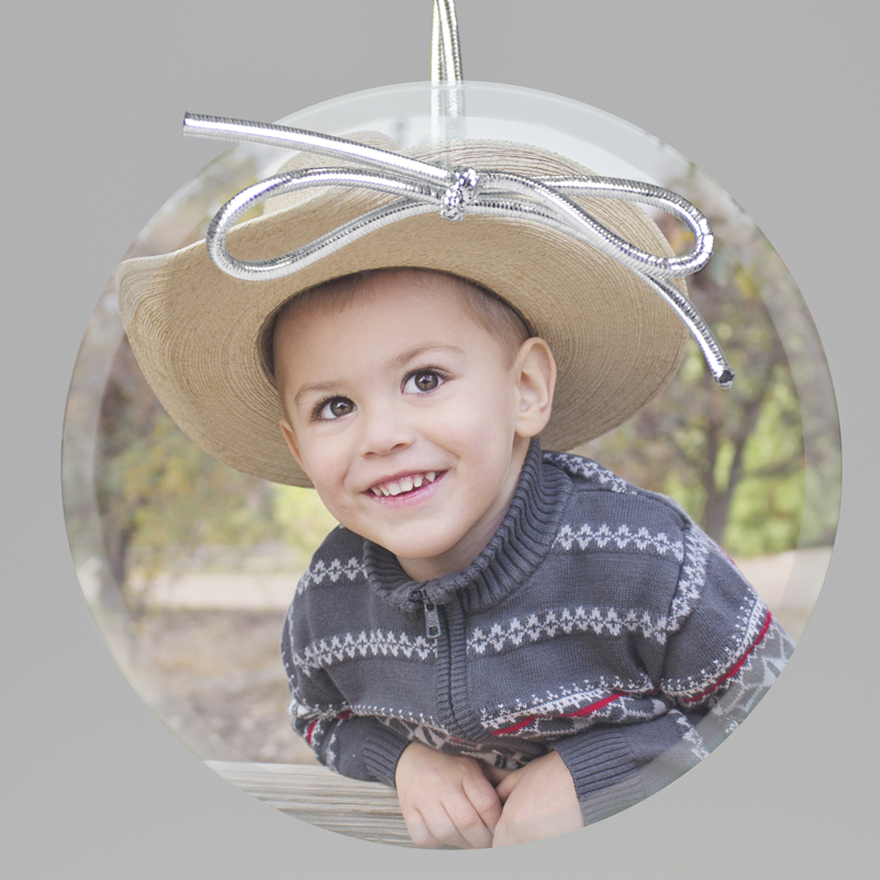 Personalized Photo Keepsake Ornament from Embossed Graphics