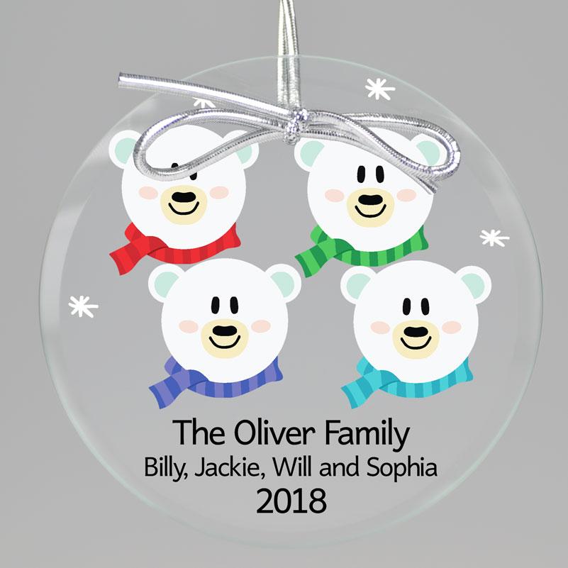 Polar Bear Keepsake Ornament from Embossed Graphics