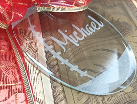 Personalized Keepsake Ornament as a gift tag