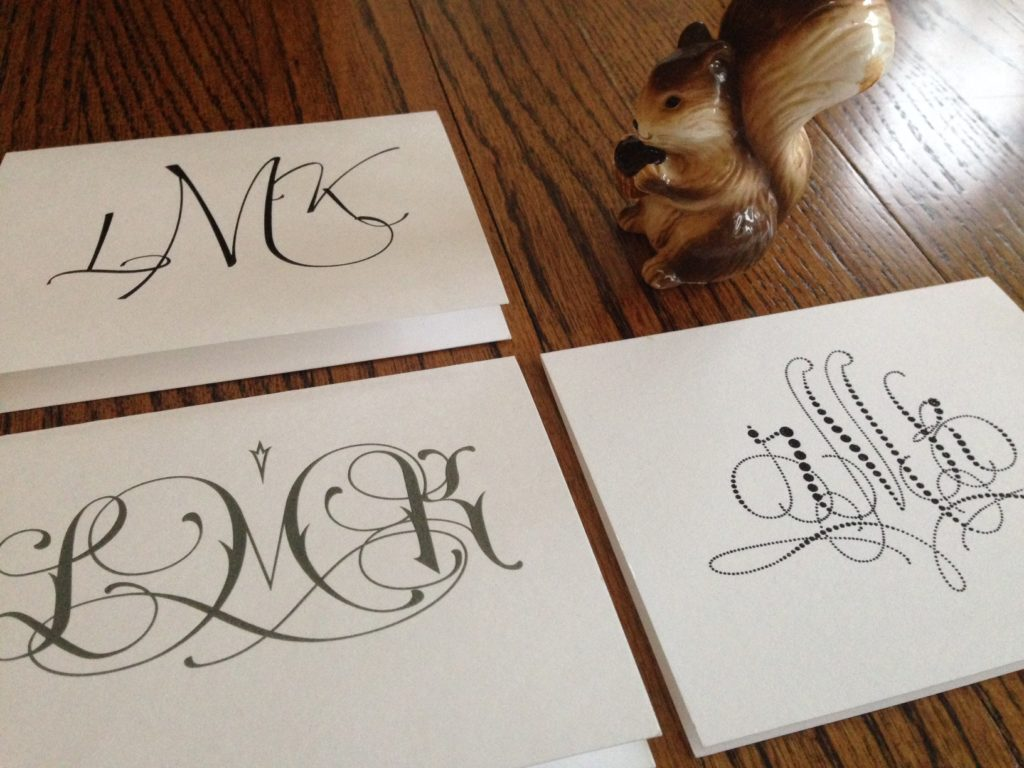 Monogrammed Notes from Embossed Graphics