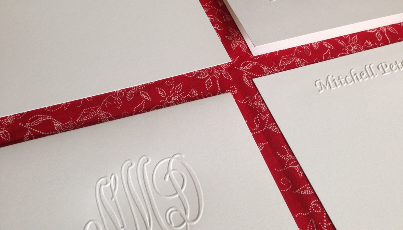 Personalized Stationery from Embossed Graphics