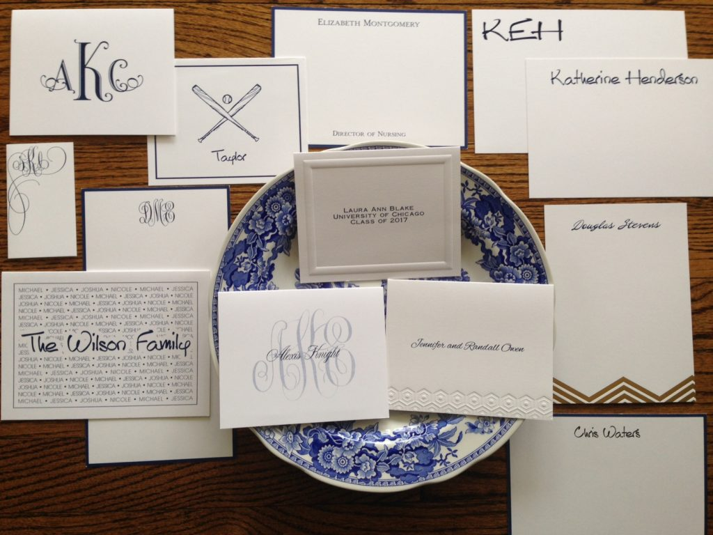 Choose a monogram or name for your personalized stationery.