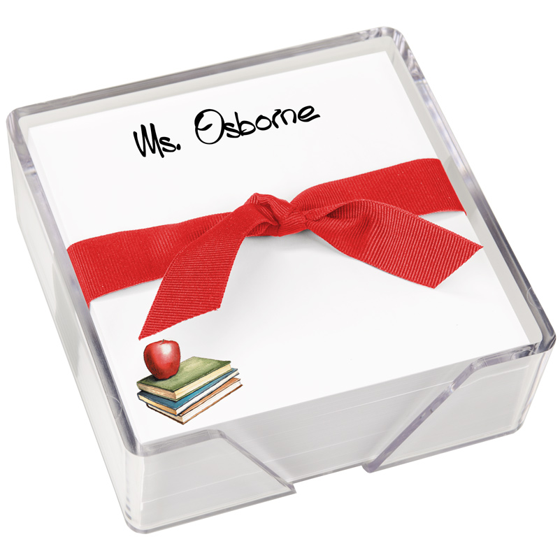Apple Memo Square by Embossed Graphics is perfect for teacher gifts