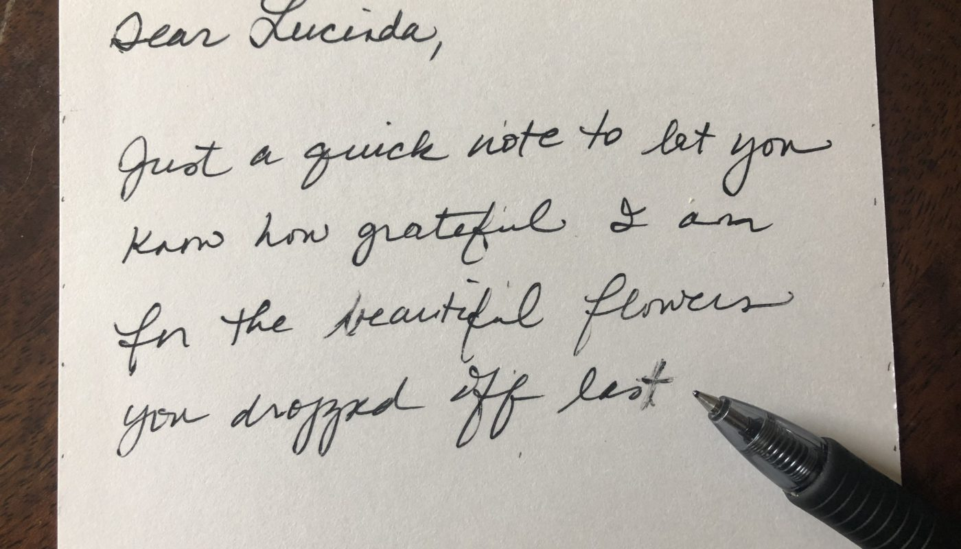 Five tips for writing in a straight line on unlined paper