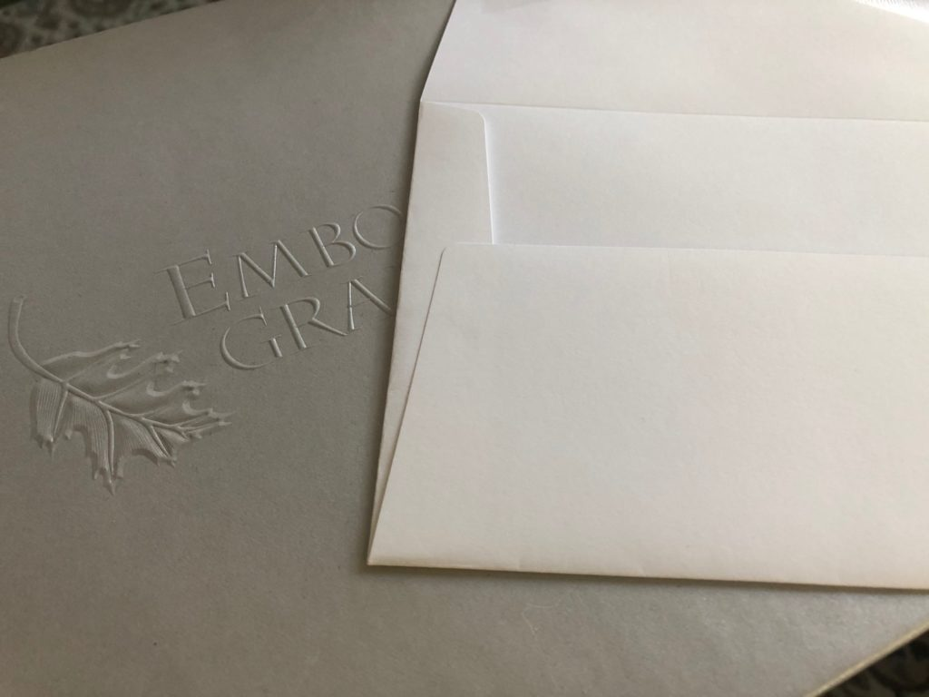Precision-crafted envelope from Embossed Graphics