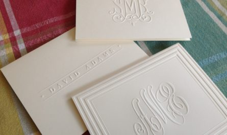 Embossed thank you notes from Embossed Graphics