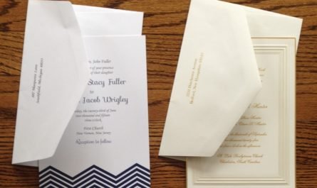 wedding invitations from Embossed Graphics