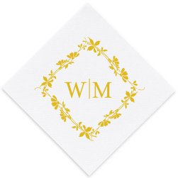 Spring Blossoms Luxury AirLaid Napkin - Foil-Pressed