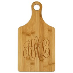 Delavan Monogram Paddle Cutting Board - Engraved