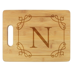 Stately Initial Cutting Board - Engraved