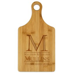 Established Paddle Cutting Board - Engraved