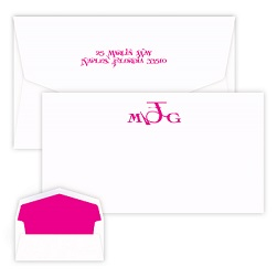 Sand Monogram Chesapeake Card - Raised Ink