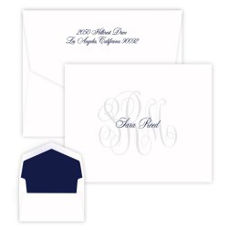 Rosedale Monogram Note - Raised Ink