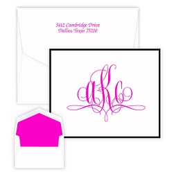 Paris Monogram Note - Raised Ink