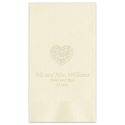 Wedding Guest Towel - Embossed