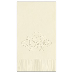 Madrid Monogram Guest Towel - Embossed