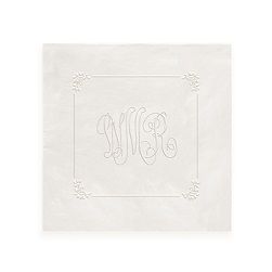 Delavan Framed Monogram Napkin - Embossed