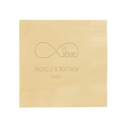 Wedding Napkin - Embossed
