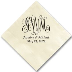 Pamplona Couples Wedding Napkin - Foil-Pressed