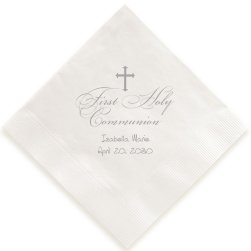 First Holy Communion Napkin - Foil-Pressed