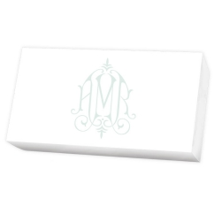 Henley Watercolor Monogram List  - White REFILL