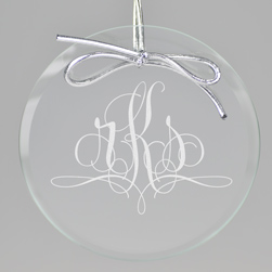 Paris Monogram Keepsake Ornament - Circle