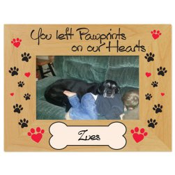 Pawprints on Our Hearts Printed Picture Frame