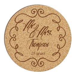 Mr. and Mrs. Cork Coaster