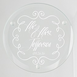 Mr. and Mrs. Glass Coaster