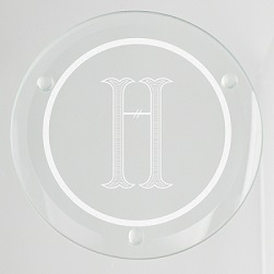 Rockford Initial Glass Coaster