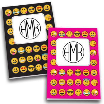 Emoji Monogram Personalized Journal Set