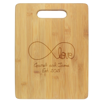 Infinity Love Cutting Board - Engraved