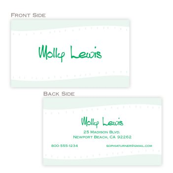 Bergen Business Card - Digital Print
