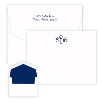 Sydney Monogram Card - Raised Ink