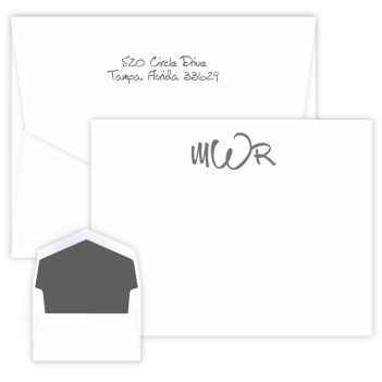 Wheaton Monogram Apex Card - Raised Ink