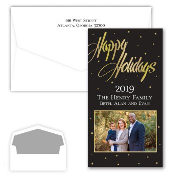 Happy Holidays Starbright Photo Card